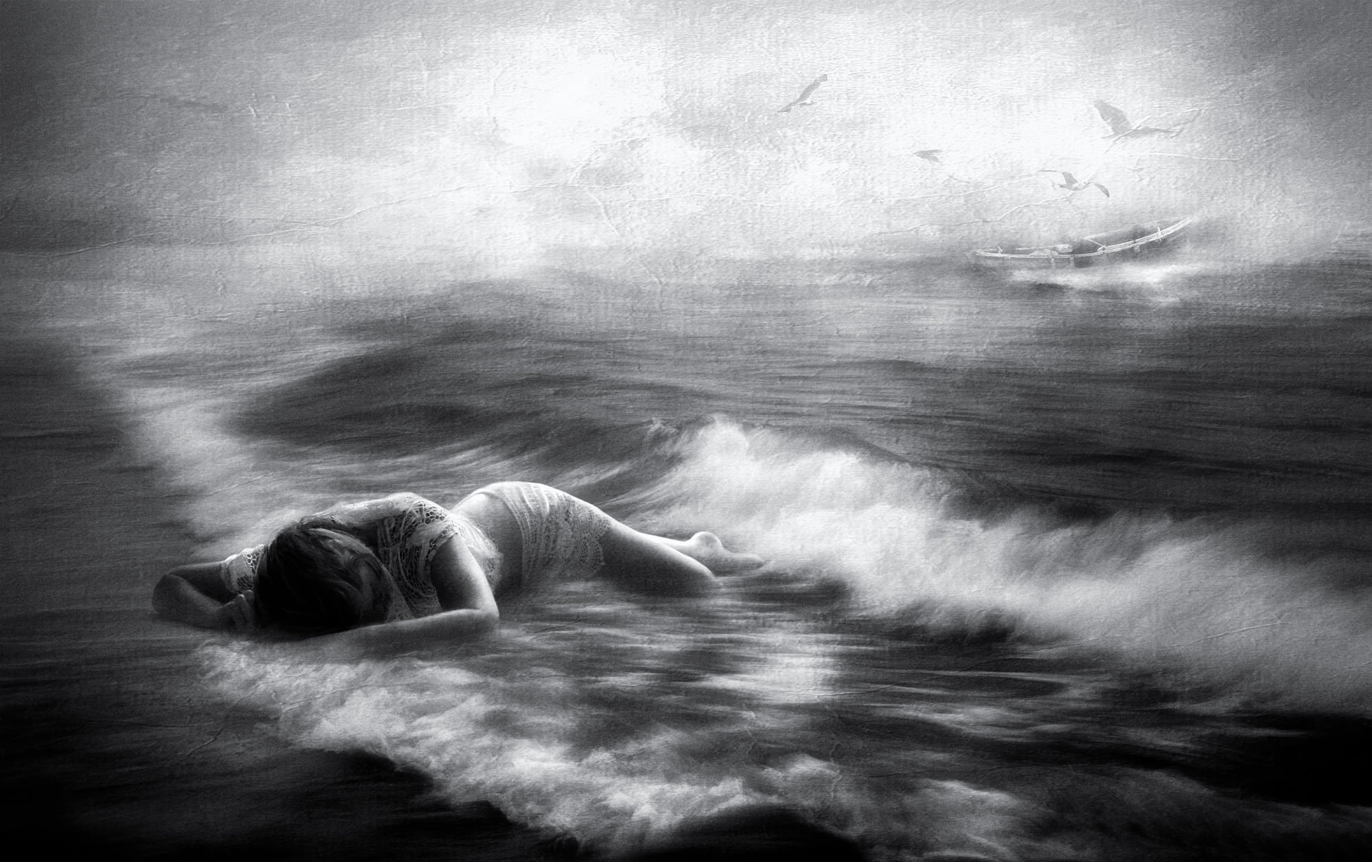 Charlaine Gerber- Such a long fall, washed out to sea